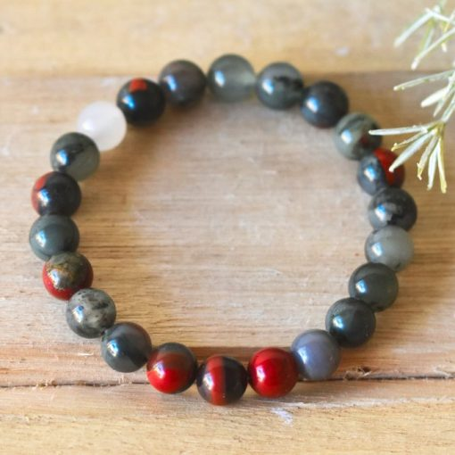 African Bloodstone Bracelet Benefits For Cleansing Benefits LARGE Blood Stone Beaded Protection Jewelry