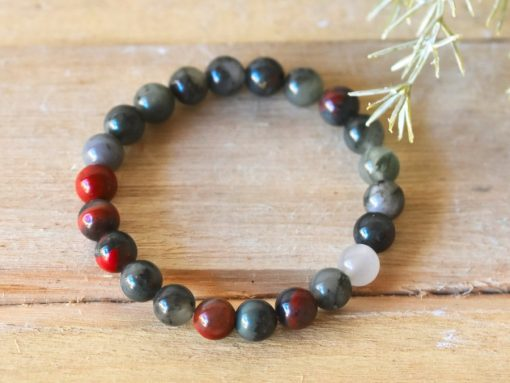 African Bloodstone Bracelet Benefits For Cleansing Blood Stone Bloodstone Beaded Protection Jewelry