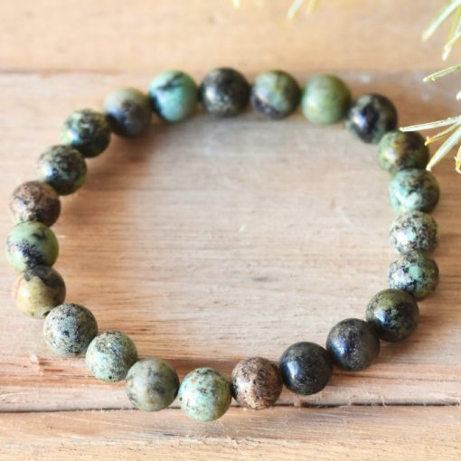 African Turquoise Crystal Bracelet Health Wish Gift Healing Stone Bead