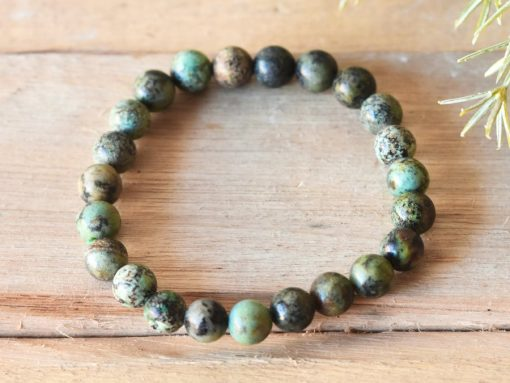 African Turquoise Stone Bracelet | African Turquoise Healing Crystal Meaning And Properties For Acceptance And Positive Change