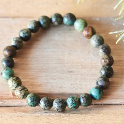 LARGE African Turquoise Bracelet | Discover African Turquoise Crystal Meaning And Properties For Soothing Emotional Stresses And Hurt Feelings