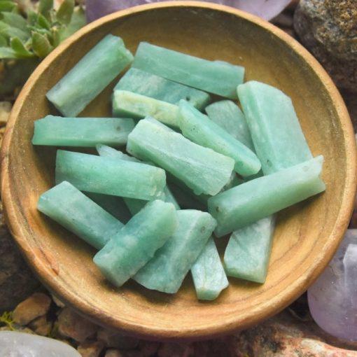 Raw Amazonite Crystal Blue Amazonite Stone Beads Wholesale