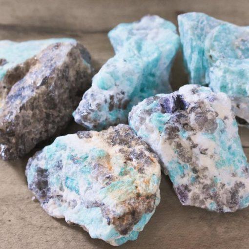 Large Blue Amazonite Crystals Rough Raw Amazonite Stones Bulk Sale