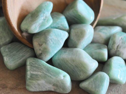 Small Blue Amazonite Stones Chips Tumbled Stone Samll