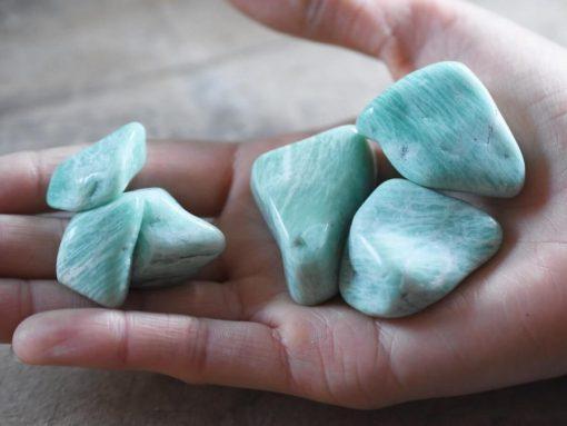 Raw Amazonite Crystal Tumbled Stone Sale