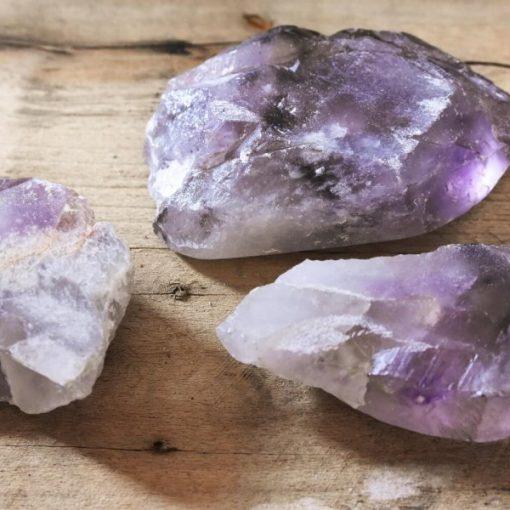 Natural Amethyst Tumbled Stones Large Polished Purple Crystal