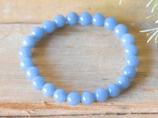 Natural Blue Angelite Crystal Women's Bracelet