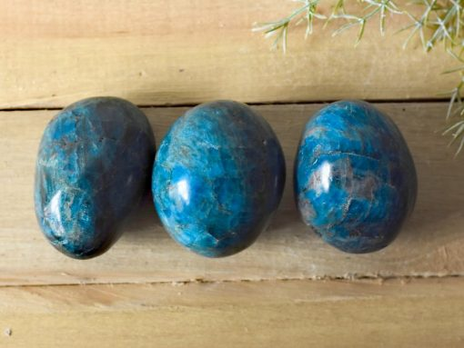 Polished Apatite Crystal Tumbled Stone Natural Blue Apatite Stones For Healing