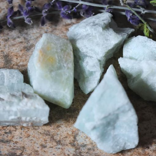 Raw Aquamarine Crystal Auqa Blue Aquamarine Gemstone Rough Stones Wholesale Bulk Sal