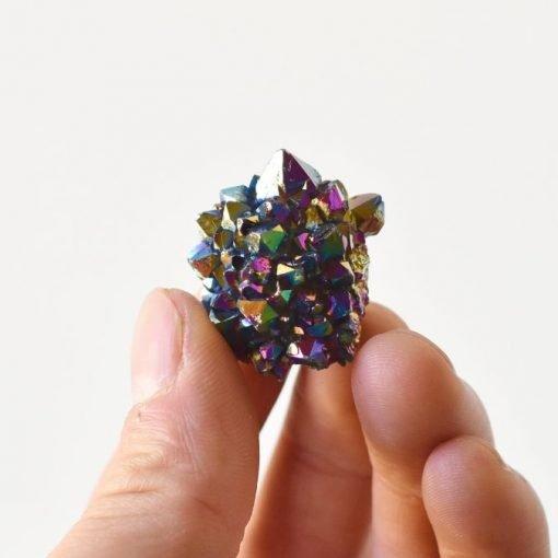 Small Rainbow Aura Quartz Mystic Spirit Crystal Cluster Druze Small Titanium Aura Quartz Crystal Point Sale