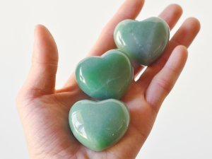 Heart Shaped Green Aventurine Crystal For Success And Wealth New Business Crystals