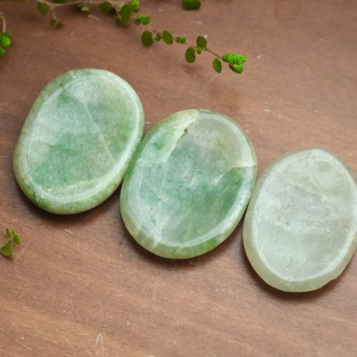 Pale Green Aventurine Crystal Thumb Stone Used For Creating Abundance And Good Luck