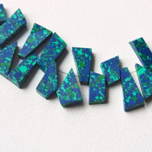 Raw Azurite Malachite Beads Top Drilled Bead Sale Wholesale Jewelry Supplies