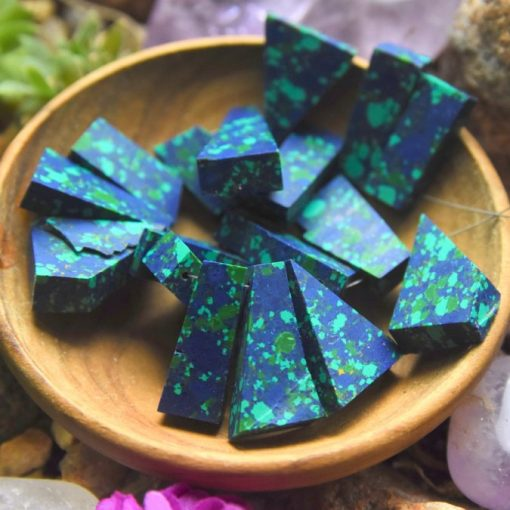 Raw Azurite Malachite Gemstone Beads Sale