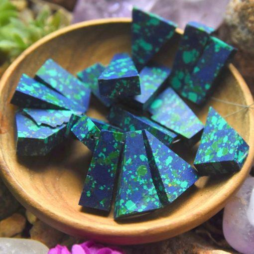 Raw Azurite Malachite Gemstone Beads Sale