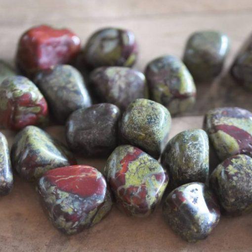 Bloodstone Wholesale Dragon's Blood Stone Tumbled Stone Bloodstone