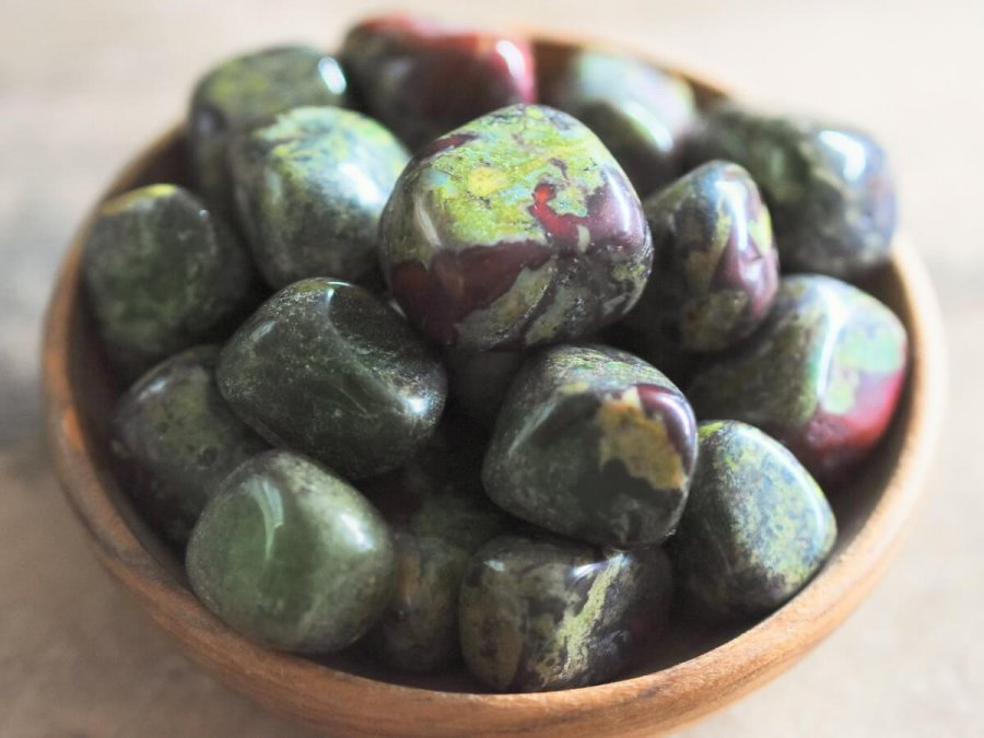 Tumbled Stone Dragon's Blood Stones Dragon Bloodstone Bulk Sale