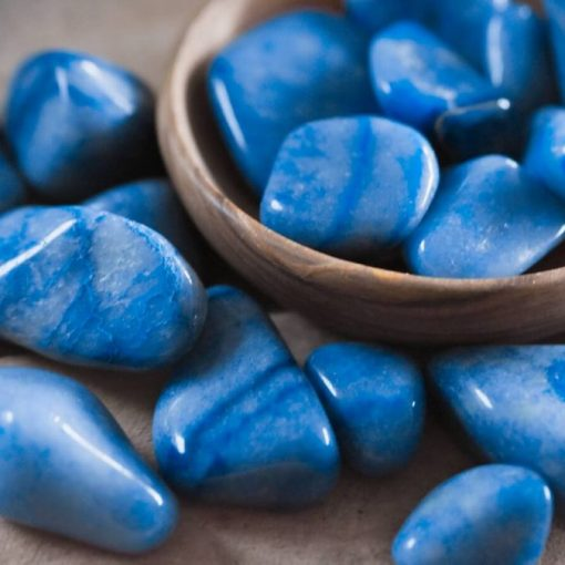 Polished Blue Aventurine Tumbled Stone For Jewelry Making
