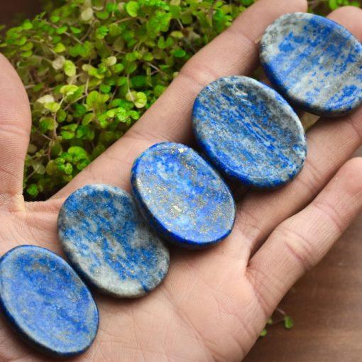 Natural Lapiz Lazuli Crystals Thumb Stone Blue Lapis Worry Stones For Sale