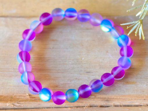 Purple And Blue Mystic Aura Quartz Crystal Bracelet