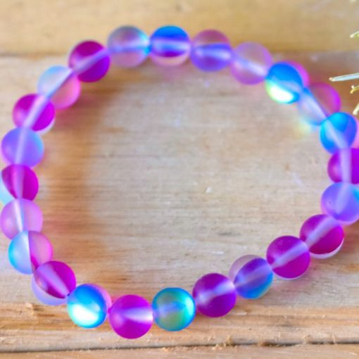 Purple And Blue Mystic Aura Quartz Crystal Bracelet