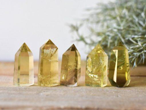 "Real Citrine Stone Point   Not Heat Treated Citrine Crystal Point Genuine Natural Citrine Gemstone Wand ~1.75-1.25"" Bulk Citrine Crystals Sale Wholesale"