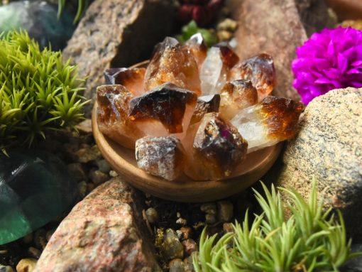 Raw Citrine Crystal Heat Treated Amethyst