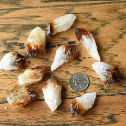 Heat TreatedCitrine Natural Crystal Points