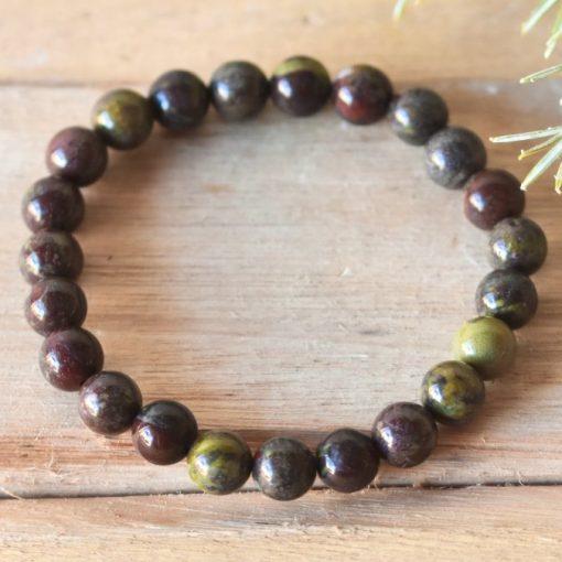 Dragon's Blood Stone Bloodstone Bracelet Healing Crystal Sale