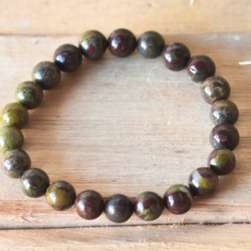 Dragon Blood Jasper Bracelet Dragon's Bloodstone Healing Crystal Power Bracelet Jewelry Gift