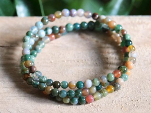 Fancy Jasper Stone Bead Bracelet Stretch Bracelet Gift