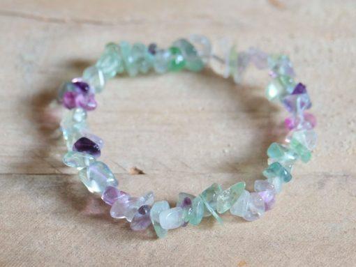 Fluorite Chip Bracelet Yoga Mediation Jewelry Gift