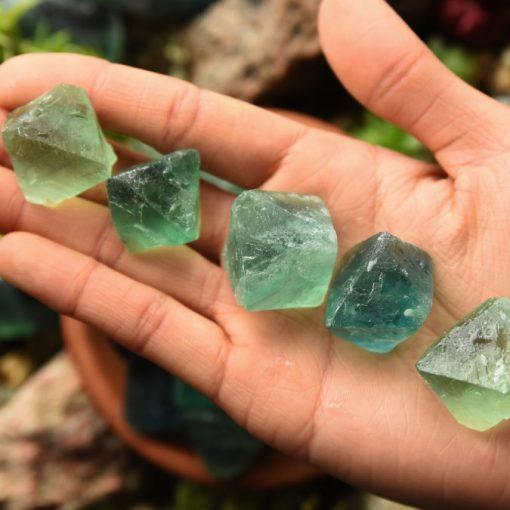 Green Fluorite Octahedron| Raw Fluorite Octahedron Crystal Bulk Sale