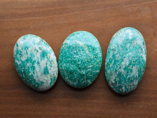 Russian Amazonite Palm Stone Large Blue Crystal