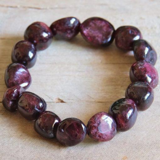 Genuine Natural Red Garnet Bracelet Jewelry January Birthstone Bracelets Gift Idea For Mom Best Friends And Mentor