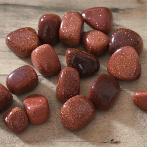 Bulk Red Goldstone Tumbled Stones Rust Red Gold Stone Rocks Wholesale