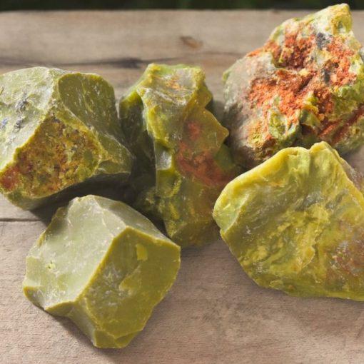 Raw Green Opal Rough Stone Bulk Pack