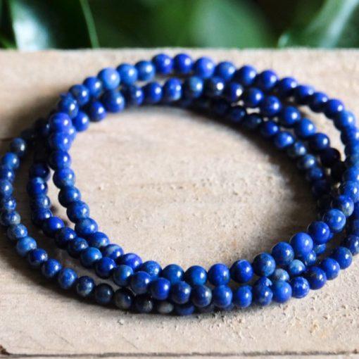 Dark Blue Lapis Lazuli Bracelet Healing Crystal Jewelry Gift