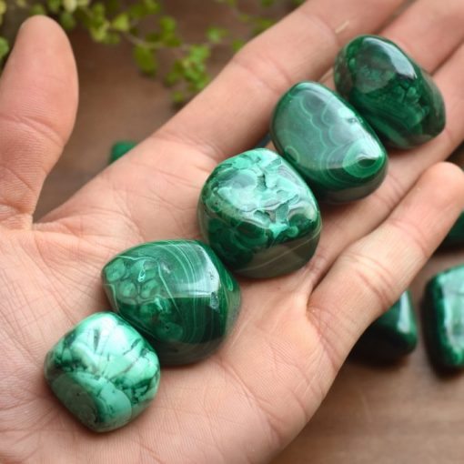 Green Malachite Stone =Natural Malachite Tumbled Stone At Best Crystals Wholesale