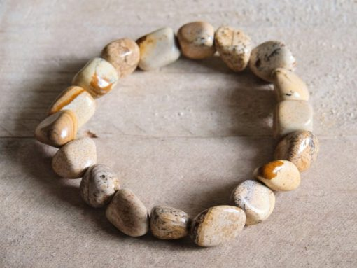 Picture Jasper Crystal Bead Natural Stone Bracelet Jewelry Gift Sale