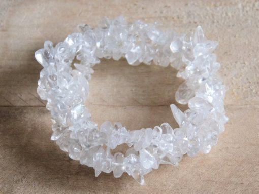 Women's Jewelry Gift Clear Quartz Crystal Bracelet Stretch Bracelet Jewelry Gift Sale