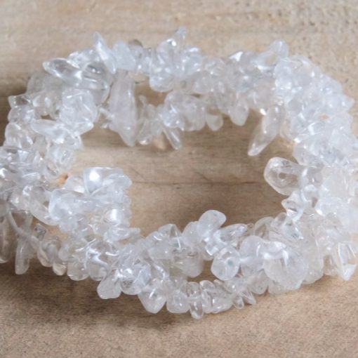 Natural Quartz Stone Bracelet Healing Crystal ONE Size Stretch Yoga Bracelet Jewelry Gift Sale Wholesale
