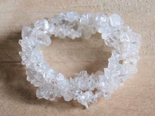 natural Quartz Crystal Gemstone Chip Bracelet Sale