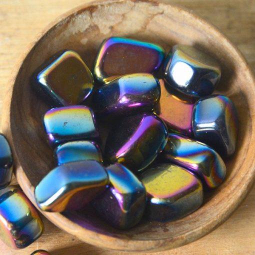 Natural Rainbow Hematite Stone Tumbled Stones Hematite Crystal Wholesale