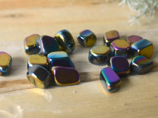 """Rainbow Hematite Tumbled Stone ~1-0.5"""" Bulk Crystals Sale 