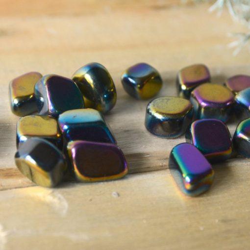 Rainbow Hematite Tumbled Stone ~1-0.5