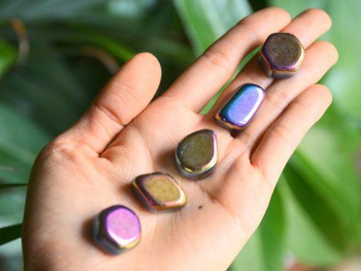 Bulk Rainbow Hematite Crystal Natural Rainbow Hematite Tumbled Stone Wholesale Crystals