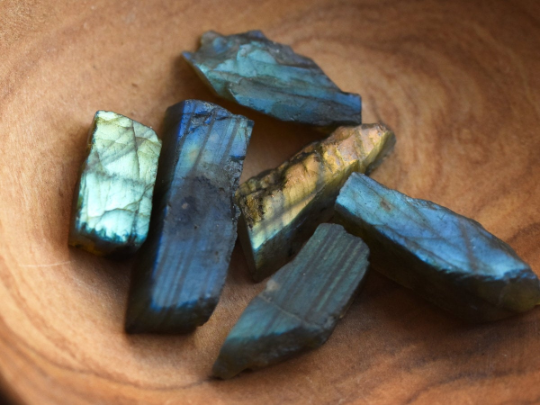 Top Drilled Labradorite Raw Stone Beads For Necklace DIY Jewelry Making