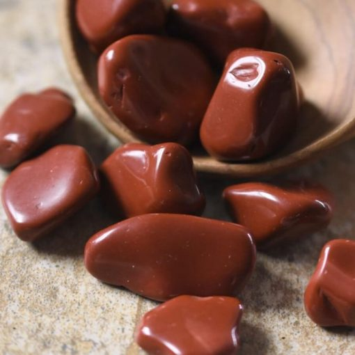 Red Brecciated Jasper Tumbled Stone Used For Boosting Positive Energy And Natural Healing
