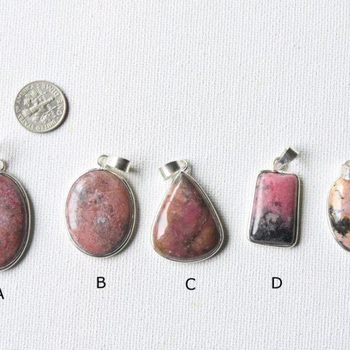Pear Shape Rhodochrosite Pink Rhodonite Stone Cabochon Drop Rhodonite Crystal Pendants Necklace Jewelry Pendant Sale